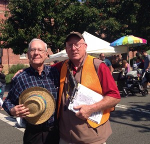 Two of our Peddlers' Fair Traffic Control volunteers